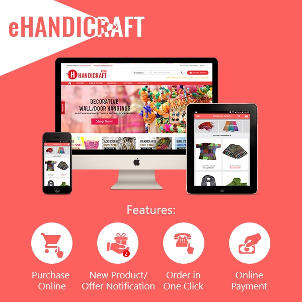 eHANDICRAFT - Full Featured Website + Mobile Apps