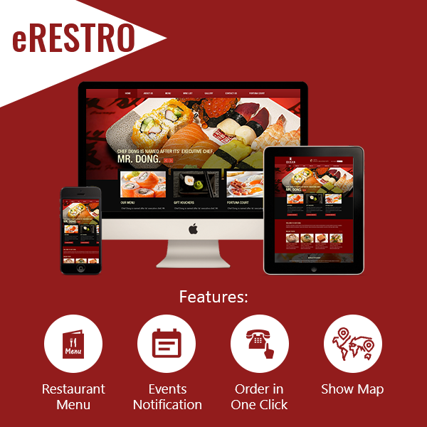 eRESTRO - Full Featured Website + Mobile Apps