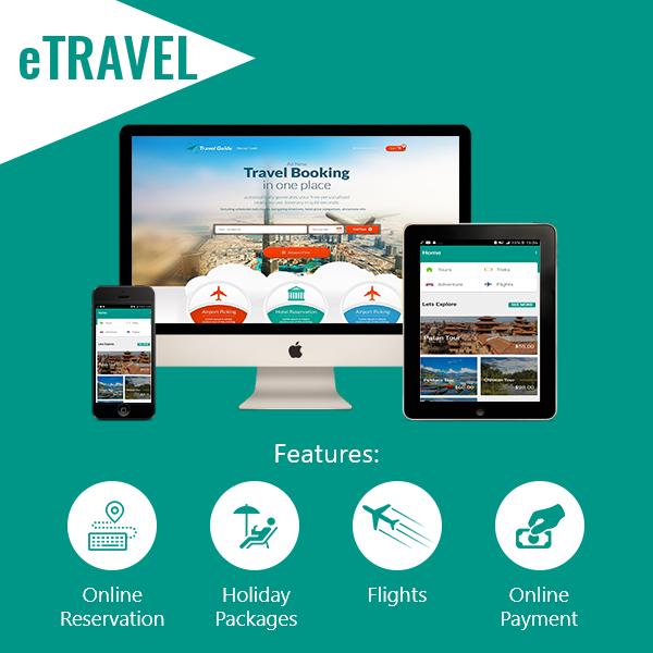 eTRAVEL - Full Featured Website + Mobile Apps