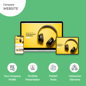 Company Identity Website Banner