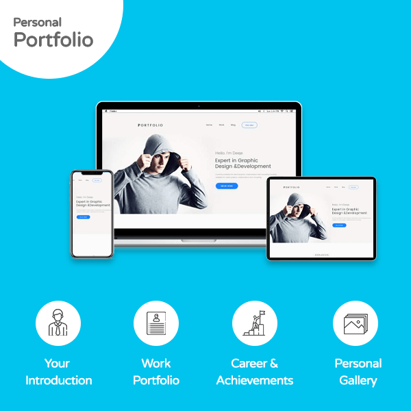 Personal portfolio website - Banner