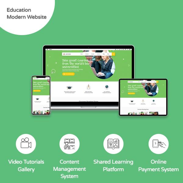 Educational Modern Website - Banner