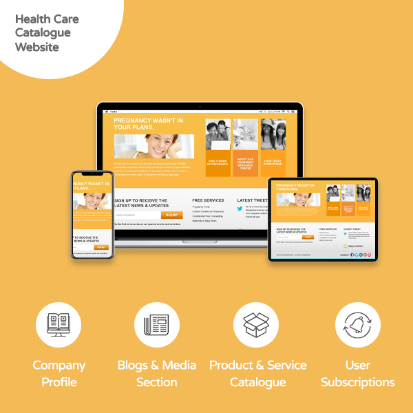 Health Care Catalogue Website - banner