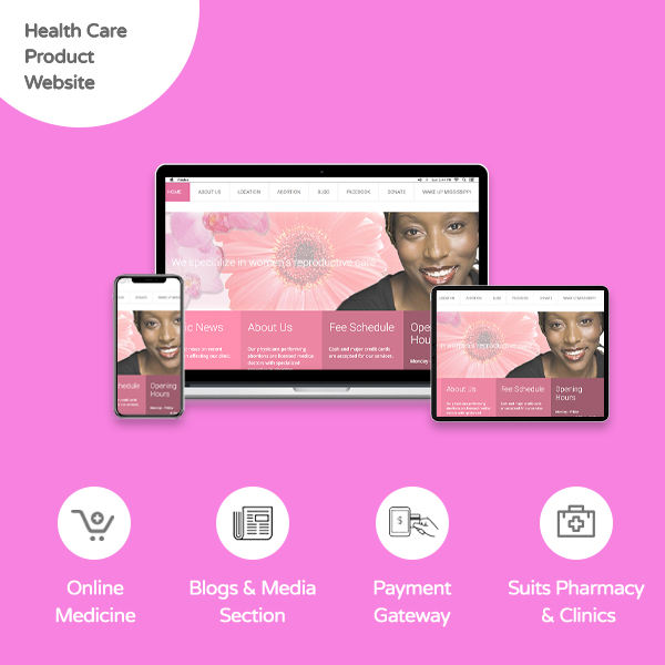 Health Care Product Website - Banner