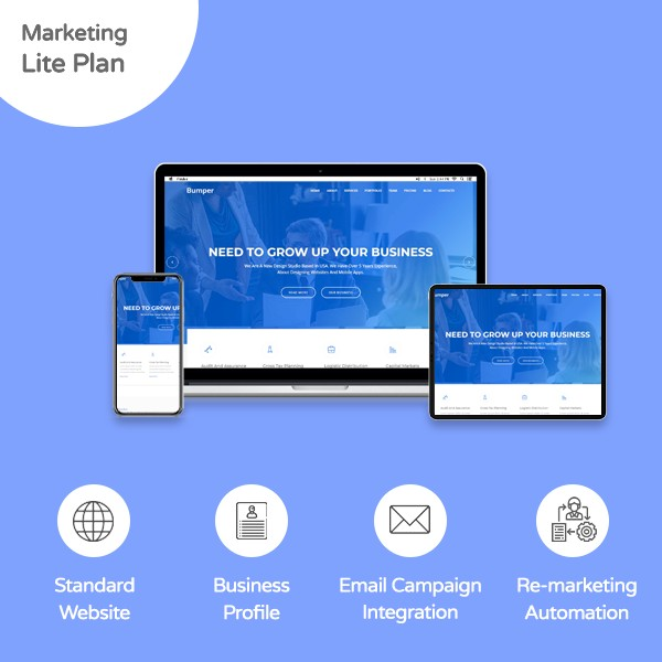Marketing Lite Plan Website - Banner