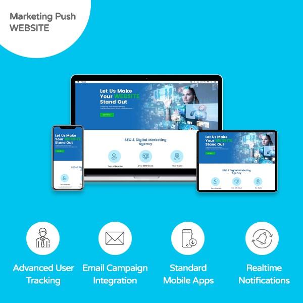 Marketing Push Website - Banner
