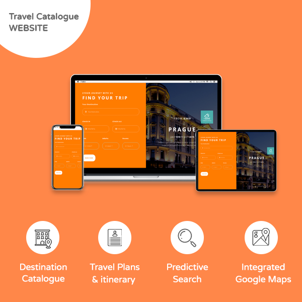 Travel Catalogue Website - Banner