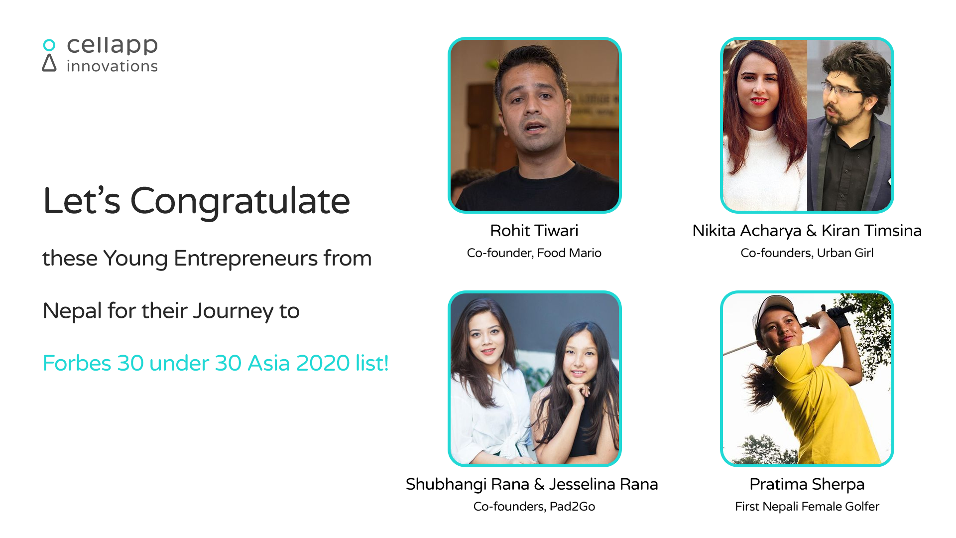 Forbes Nepalese young entrepreneurs - Banner