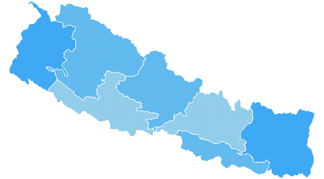 New map of nepal vector image -banner