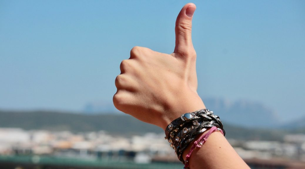 Thumbs up for productivity - banner
