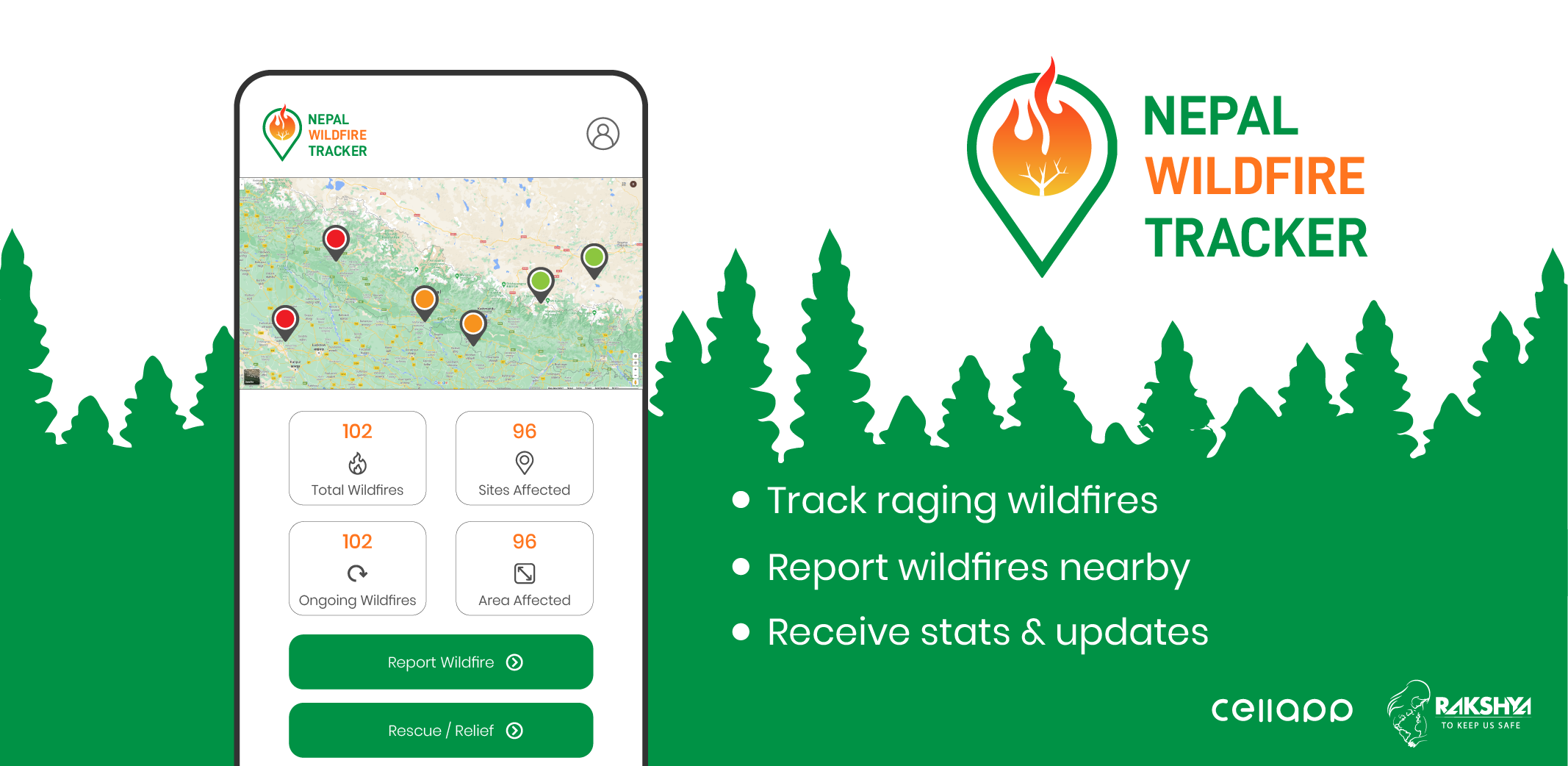 Wildfires in Nepal - Nepal Wildfire Tracker and Controlling system